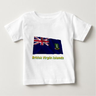 British Virgin Islands Waving Flag with Name Baby T-Shirt
