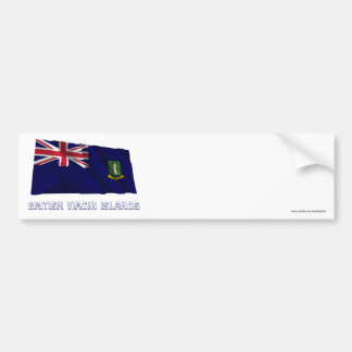 British Virgin Islands Waving Flag with Name Car Bumper Sticker