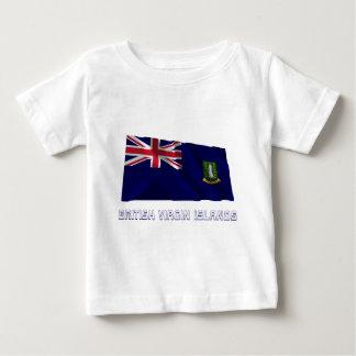 British Virgin Islands Waving Flag with Name Infant T-shirt