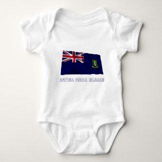British Virgin Islands Waving Flag with Name T Shirt