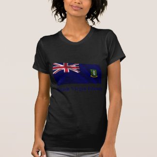 British Virgin Islands Waving Flag with Name T-Shirt