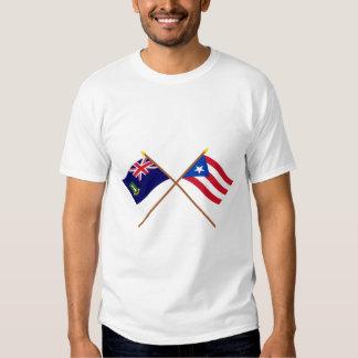 British Virgin Islands y banderas cruzados de Camisas