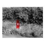 British wall letter box post card