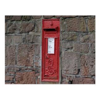 British wall letter box postcard