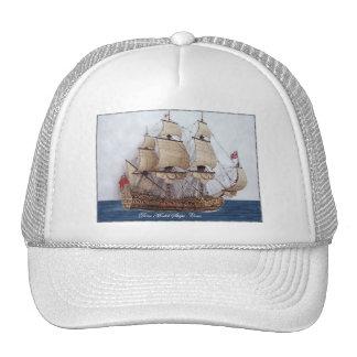British Warship At Sea Hats