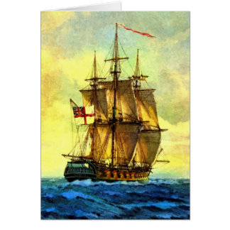 British warship card