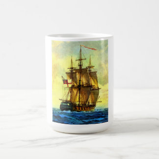 British warship coffee mug