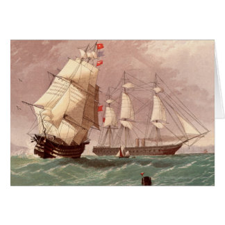 British warship HMS Warrior Card