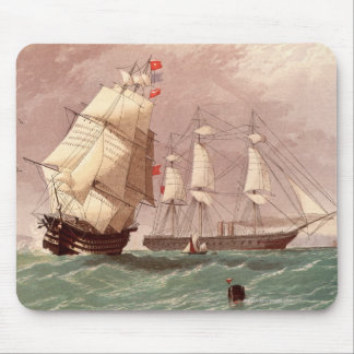 British warship HMS Warrior Mouse Pad