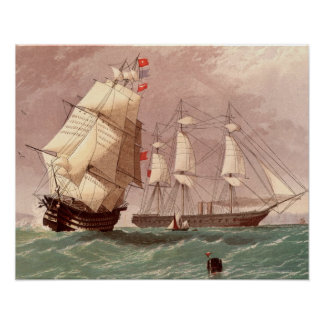 British warship HMS Warrior Poster