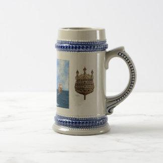British Warship Stein Mug