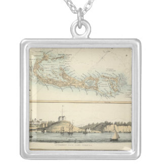 British West Indian Possessions Silver Plated Necklace