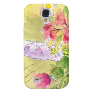 British Wild Flowers Painting Samsung Galaxy S4 Cover
