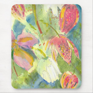 British Wild Flowers Painting Floral Design Mouse Pad