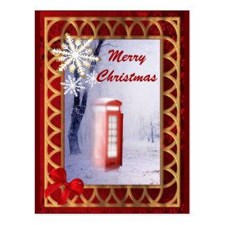 British winter landscape christmas postcard