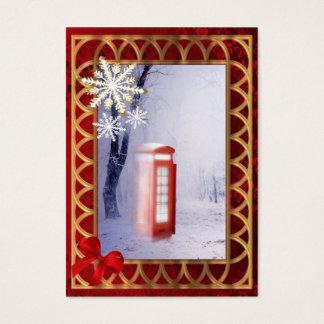 British winter landscape snow scene business card