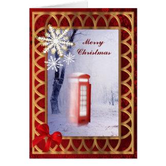 British winter snowscene invitation