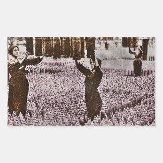 British Women WWI Bomb Factory Rectangle Sticker