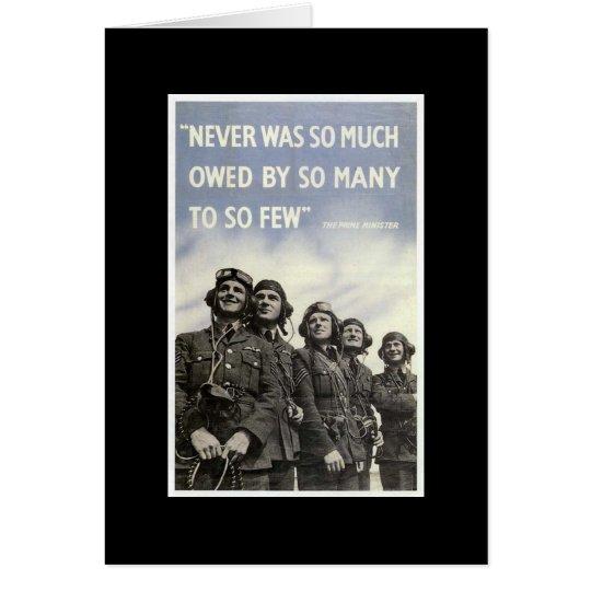 British World War 2 Quotation Patriotic Military Card