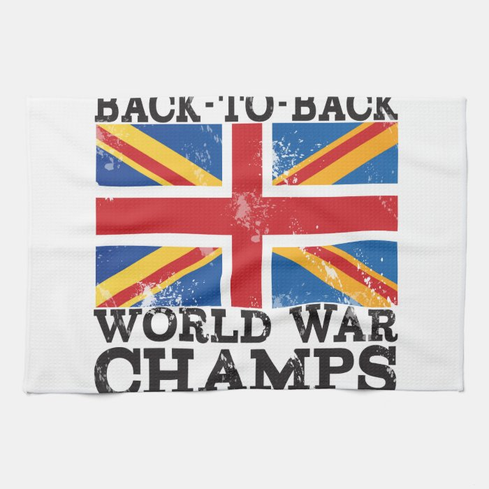 British World War Victory Hand Towels