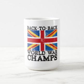 British World War Victory Coffee Mugs