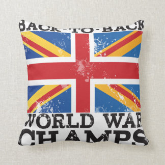 British World War Victory Throw Pillow