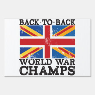 British World War Victory Lawn Signs