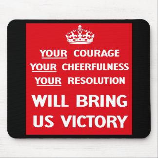 British WW2 Propaganda Mouse Pad