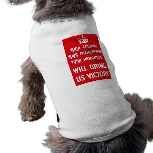 British WW2 Propaganda Pet Shirt