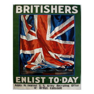 Britishers Enlist Today Poster
