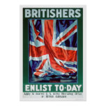 Britishers Enlist Today (US02116) Posters