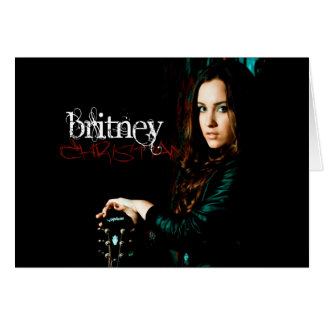Britney Christian CD Cover Card