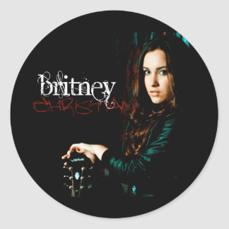 Britney Christian CD Cover Classic Round Sticker