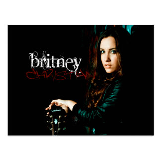 Britney Christian CD Cover Postcard