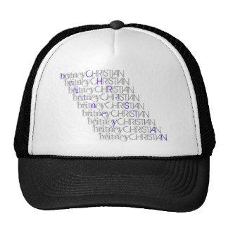 Britney Christian Name Hat