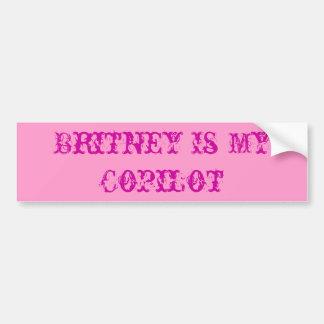 Britney es mi copiloto pegatina para auto
