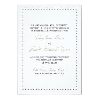 Britney: Invitación clásica del boda (frontera