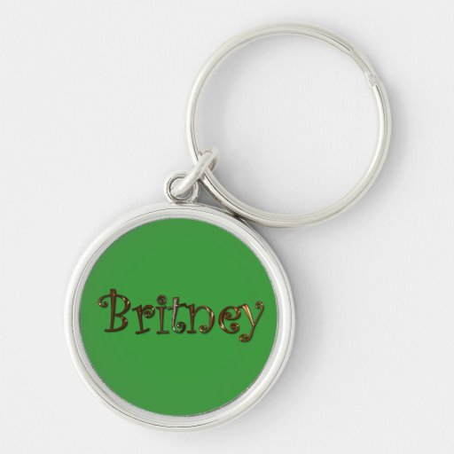 BRITNEY Name-Branded Gift Keychain or Zipper-pull