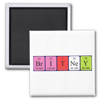 Britney periodic table name magnet