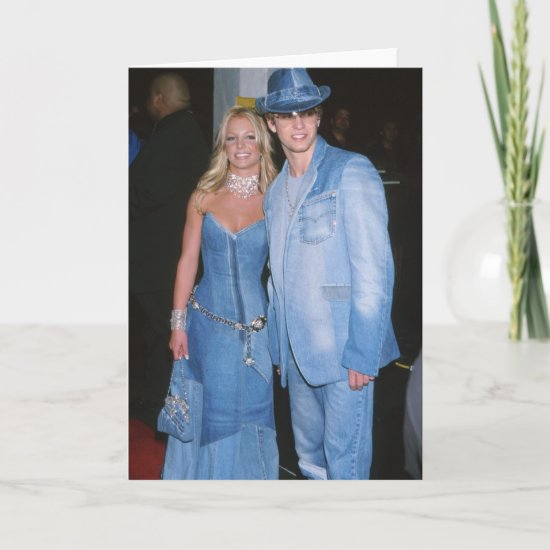 Britney Spears & Justin Timberlake in Denim Card