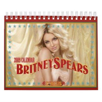 Britney Spears Official 'Circus' 2009 Calendar calendar