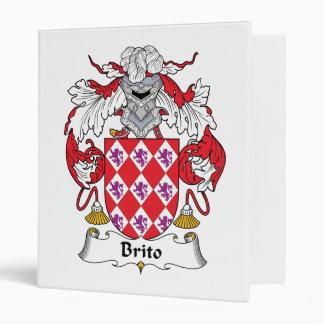 Brito Family Crest 3 Ring Binder