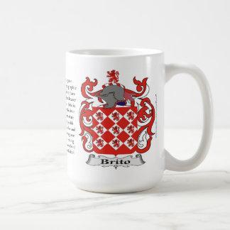 Brito nombra, el origen, el significado y el taza