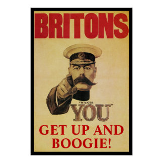 Britons ~ Get Up And Boogie! Print
