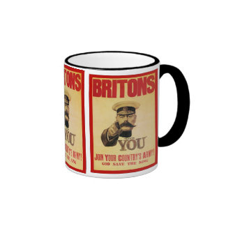 Britons: Join Your Country's Army! Ringer Coffee Mug