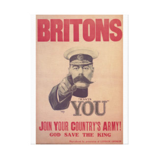 Britons, join your country's_Propaganda Poster Canvas Print