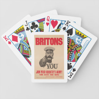 Britons Lord Kitchener Wants You WWI Propaganda Bicycle Playing Cards