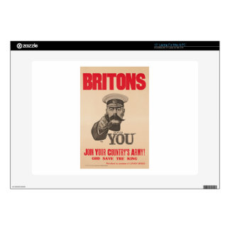 """Britons Lord Kitchener Wants You WWI Propaganda Decal For 15"""" Laptop"""