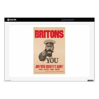 """Britons Lord Kitchener Wants You WWI Propaganda Decals For 17"""" Laptops"""