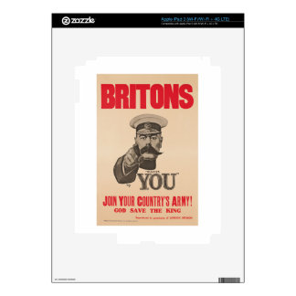 Britons Lord Kitchener Wants You WWI Propaganda Decals For iPad 3
